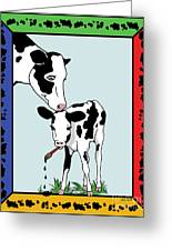 Cow Artist Cow Art II Greeting Card