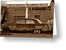 Cow Canyon Trading Post 1949 Greeting Card