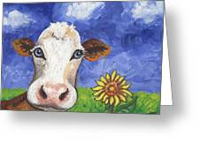 Cow Fantasy One Greeting Card
