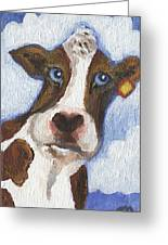 Cow Fantasy Two Greeting Card