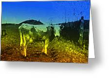 Cow On Lsd Greeting Card