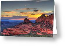 Cow Pies Sunset Greeting Card