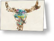 Cow Skull Greeting Card