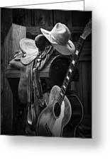 Cowboy Acoustic Guitar Greeting Card