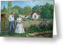 Cowboy And The Lady Greeting Card