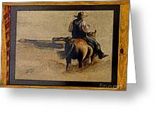Cowboy Art By L. Sanchez Greeting Card