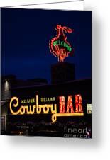 Cowboy Bar Greeting Card