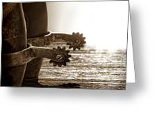 Cowboy Boots And Riding Spurs Greeting Card
