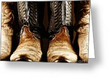 Cowboy Boots In High Contrast Light Greeting Card