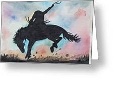 Cowboy Bronco Greeting Card