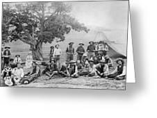 Cowboy Camp, C1890 Greeting Card