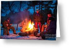 Cowboy Campfire Greeting Card