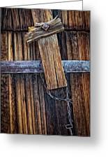 Cowboy Cross And Rosary Greeting Card