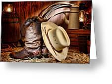 Cowboy Gear Greeting Card by Olivier Le Queinec