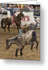 Cowboy Hang On Greeting Card