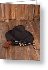 Cowboy Hat And Gun Greeting Card