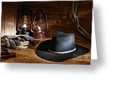 Cowboy Hat And Tools Greeting Card