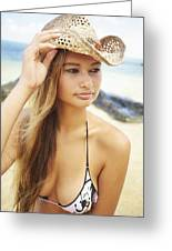 Cowboy Hat At The Beach Greeting Card by Kicka Witte