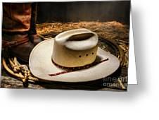 Cowboy Hat On Lasso Greeting Card
