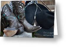 Cowboy Hat And Cowgirl Boots Greeting Card