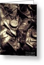 Cowboy In Bronze Greeting Card