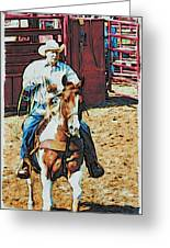 Cowboy On Paint Greeting Card
