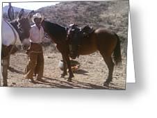 Cowboy Ready To Work Greeting Card
