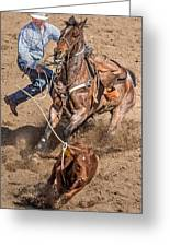 Cowboy Ropes Calf  Greeting Card