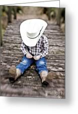 Cowboy Greeting Card by Scott Pellegrin