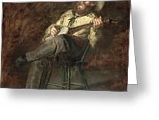Cowboy Singing Greeting Card