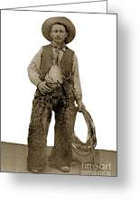 Cowboy With Woolies Cowboy Hat 1900 Greeting Card