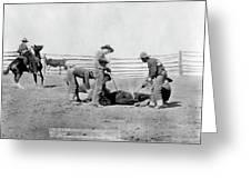 Cowboys, 1888 Greeting Card