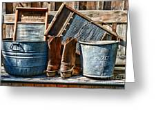 Cowboys Have Laundry Too Greeting Card