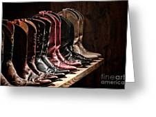 Cowgirl Boots Collection Greeting Card