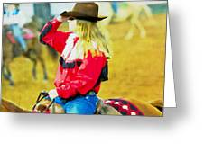 Cowgirl Waiting Greeting Card