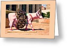 Cow Parade N Y C 2000 - Prima Cowlerina Greeting Card