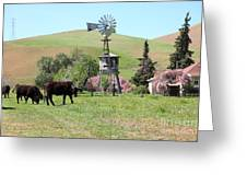 Cows Home On The Ranch At The Black Diamond Mines In Antioch California 5d22345 Greeting Card by Wingsdomain Art and Photography