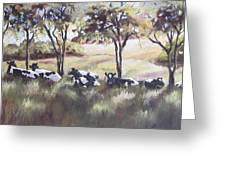 Cows Pasture Greeting Card