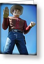 Cowtown Cowboy Greeting Card