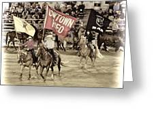 Cowtown Grand Entry Greeting Card