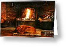 Cozy By The Fire Greeting Card