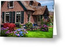 Cozy Corner. Giethoorn. Netherlands Greeting Card