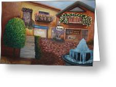 Cozy Courtyard Greeting Card