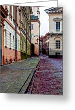 Cozy Old Town Greeting Card