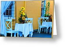 Cozy Table For Two Greeting Card