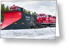 Cp Rail Plow Greeting Card