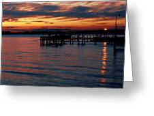 Crab Alley Sunset Greeting Card