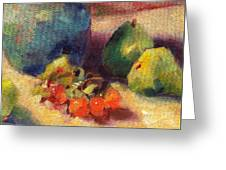 Crab Apples And Pears Greeting Card