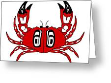 Crab Dungeness Greeting Card