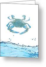 Crab Strolling Around Greeting Card